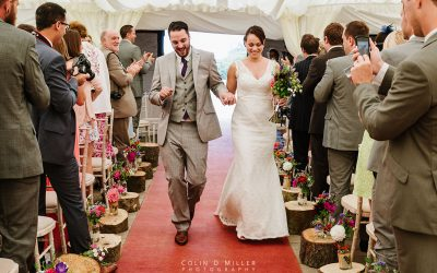 Dancing down the aisle at Laughton Barns